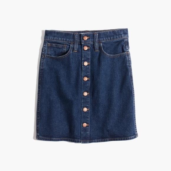 9890544b81 Stretch Denim Straight Mini Skirt in Arroyo Wash